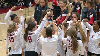 Recap Stanford women 39 s volleyball sweeps Utah on