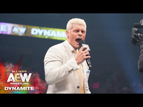 #AEW DYNAMITE EPISODE 6: CODY MAKES A CAREER ANNOUNCEMENT GOING INTO #AEWFULLGEAR