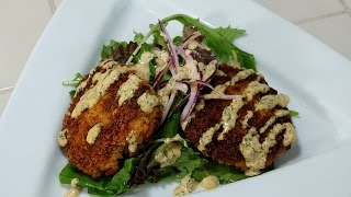 Shrimp Cakes With Spicy Cajun Sriracha Mayo