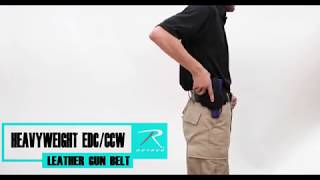 Rothco Heavyweight EDC/CCW Leather Belt - Product Breakdown