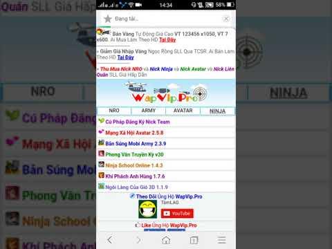 tai hack ninja school online tren may tinh - Ninja School Online : Hướng Dẫn Tải Phiên Bản Hack Ninja School cho Android.