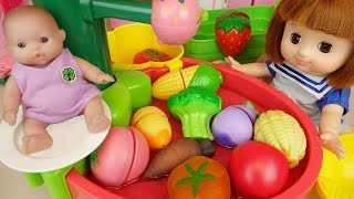 Vegetable wash Baby doll kitchen cooking play baby Doli house