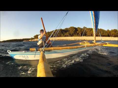 "Sailing Outrigger Canoe ""Velella"""