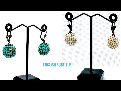 How to Make Chenille Stitch  Beaded Earrings Tutorial - Beaded Jewelry Design