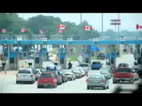 2 obnoxious ignorant anti-American canadians try to cross border.flv