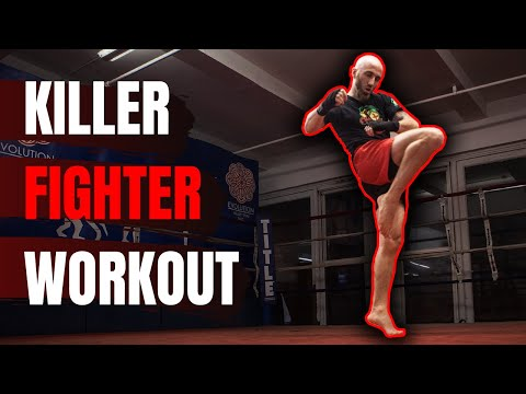 15 Minute KILLER Home Workout For Fighters (Body Weight, HIIT & Shadowboxing)