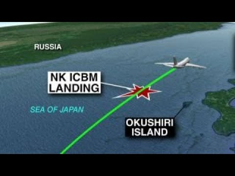 US official: Commercial jet flew past NKorea missile path