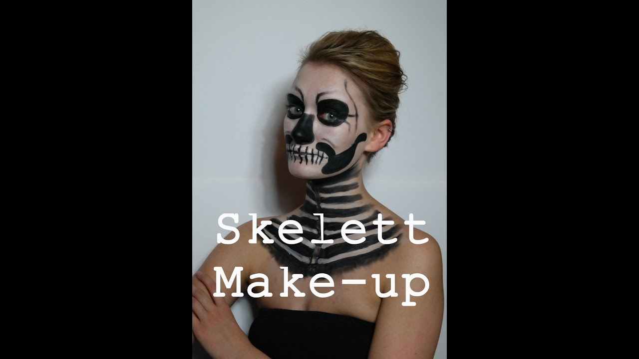 halloween serie skelett make up youtube. Black Bedroom Furniture Sets. Home Design Ideas