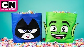 Teen Titans GO! | Easy DIY Halloween Trick-or-Treat Bags | Cartoon Network