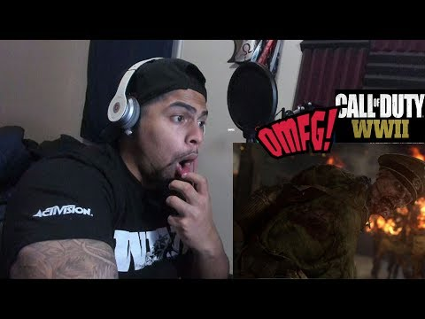 Official Call of Duty® WWII Nazi Zombies Reveal Trailer Reaction! Horror Game FACTS!