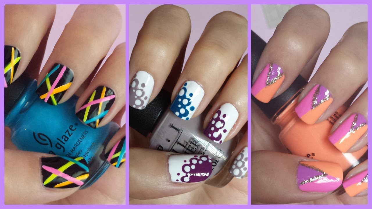 Easy Nail Art For Beginners 11 Youtube