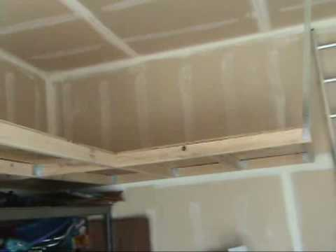 How To build overhead storage FREE info YouTube – Overhead Garage Shelving Plans