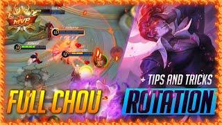 How To Use Cнou 2021 | Chou Gameplay Rotation TUTORIAL | Mobile Legends