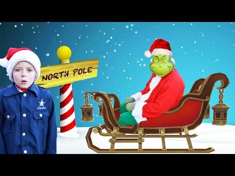 Download Youtube: Grinch steals keys to Santas magical sleigh! Silly funny holiday kids video