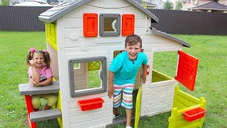 Ali bought play house , funny video for kids