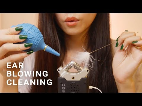 ASMR Ear Cleaning And Blowing (No Talking) Re-Upload