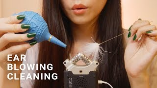 ASMR Ear Cleaning and Blowing (No Talking)