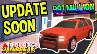 Roblox Jailbreak New Update Soon! NEW SUV CAR AND RIMS! 991+ Million Visits! | 🔴 Roblox LIVE