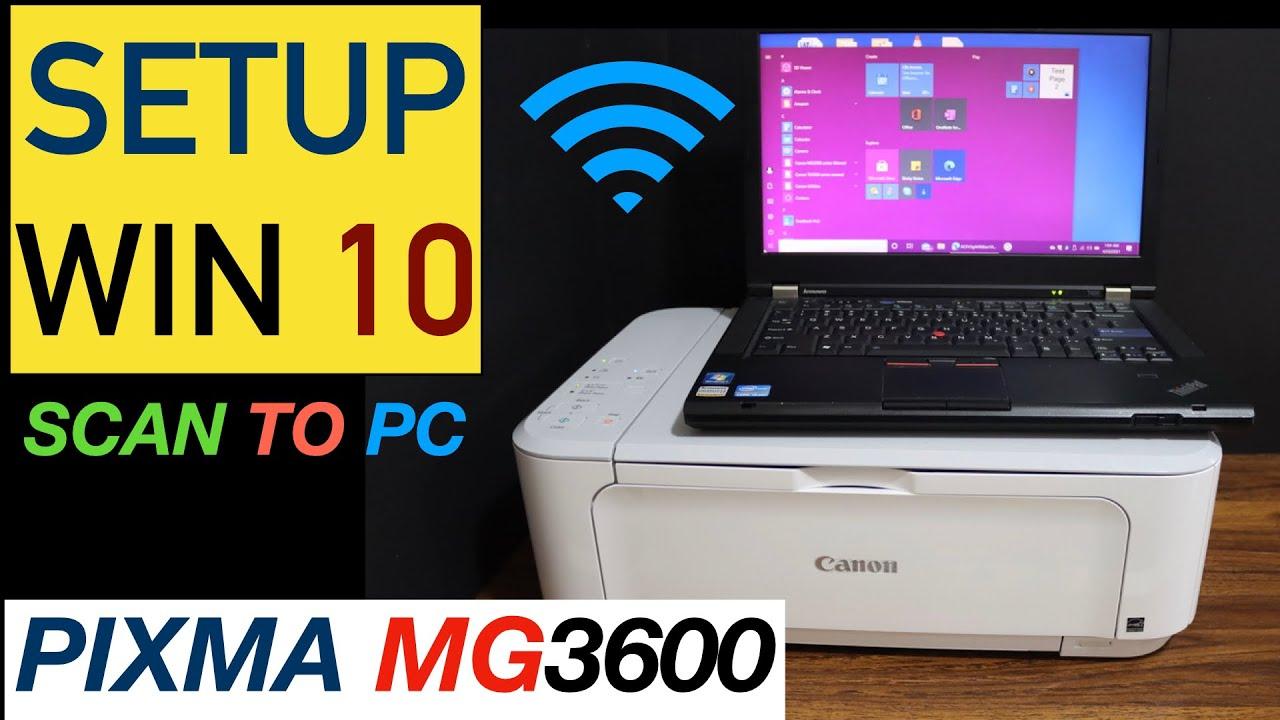 Canon Pixma MG20 Setup Windows 20, Scan To PC..