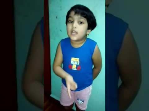 Isha Sudin Natu singing konkani nursery rhymes