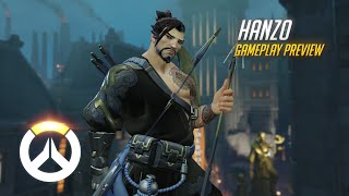 Hanzo Gameplay Preview | Overwatch | 1080p HD, 60 FPS