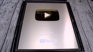 New YouTube 1 Million Subscriber Gold Play Button Unboxing - Next Giveaway Announcement