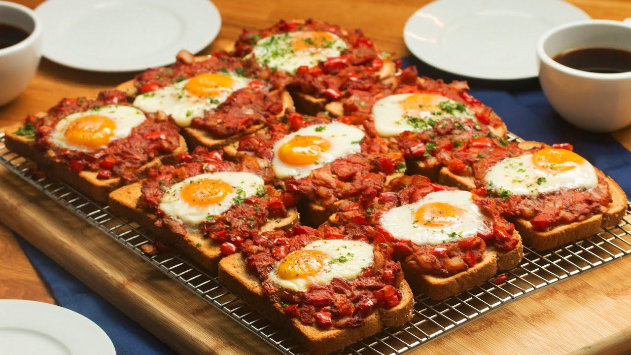 Sheet-Pan Shakshuka Toast