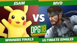 Smash Ultimate Tournament - PG   Esam (Pikachu) Vs. PG   MVD (Snake) DPOTG18 SSBU Winners Finals
