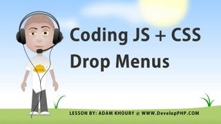 JavaScript CSS Custom Drop Down Menu System Tutorial Validated HTML5