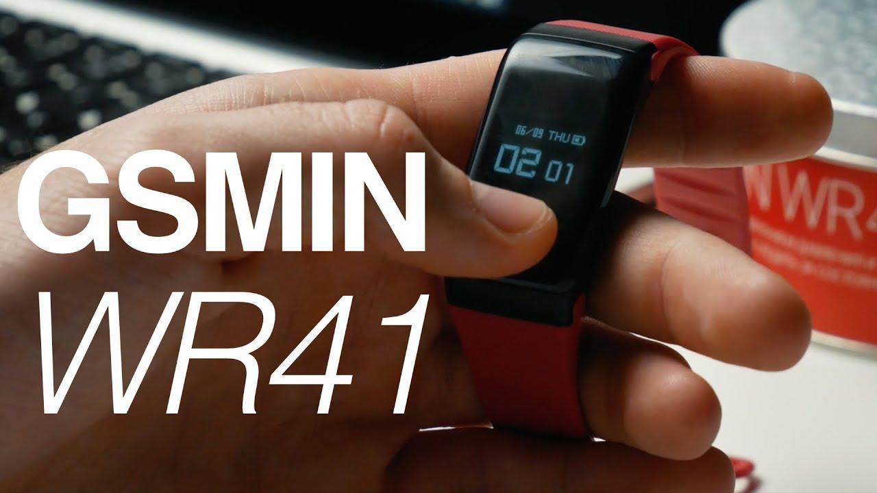 Обзор GSMIN WR41 - фитнес браслет с измерением давления и пульса