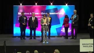 Brighton Pavilion - General Election Declaration