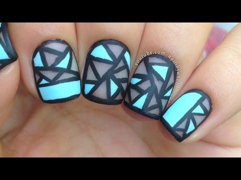 Nail Art Tutorial Geometric Negative Perfect For Short Nails