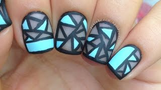 Geometric Negative Space Nail Art (perfect For Short Nails!)