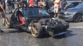 Cletus McFarland Mega Burnout in Leroy Corvette! LIVE VIDEO