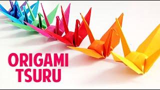 Como Fazer um Tsuru de Origami (dobradura) Fácil | Easy Origami Tsuru