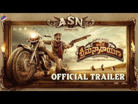 Athade Srimannarayana Telugu Trailer   Rakshit Shetty   Pushkar Films   Shanvi   #ASNTrailer