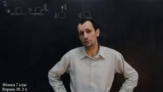Фізика 7 клас. Вправа № 30 1-4 п.