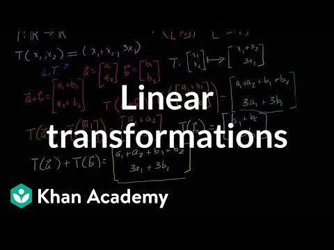 Linear transformations | Matrix transformations | Linear Algebra | Khan Academy