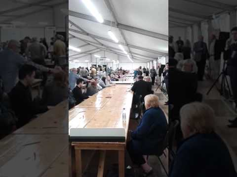 Vote counting under way at Stafford Leisure Centre