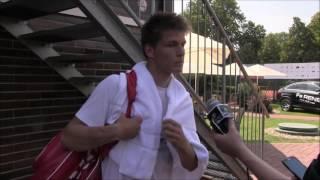 Filip Duda po výhře v prvním kole kvalifikace na turnaji Futures v Pardubicích