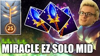 Dota 2 Miracle Enigma Solo Mid Aghanim WTF Gameplay EZ MMR 7.01 Patch