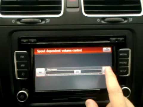 vw golf vi hıza duyarlı ses özelliği ayar menüsü - youtube