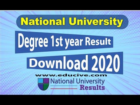 Degree 1st Year Result 2020 [National University]