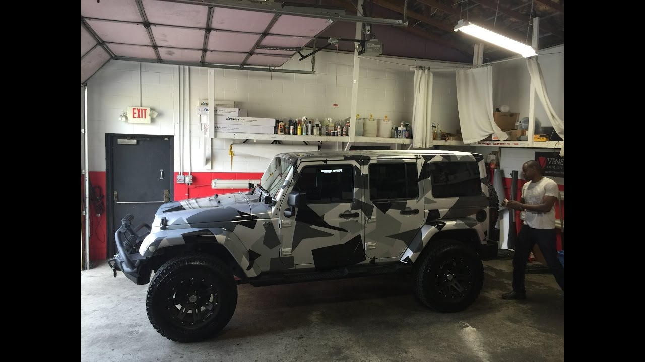 White Camo Jeep : Jeep camo wrap youtube