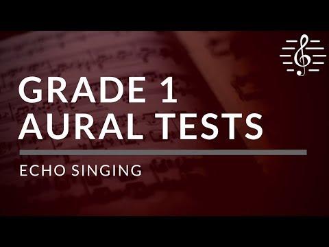 Grade 1 Aural Tests - Echo Singing