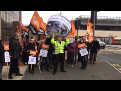 GMB trade union members at Saga Folkestone