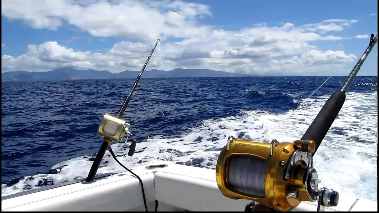 Trolling for marlin with 6 heavy tackle game rods for Fishing supplies honolulu