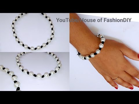 How To Make Silk Thread Necklace Using Pearls(Simple&Beartiful)..!