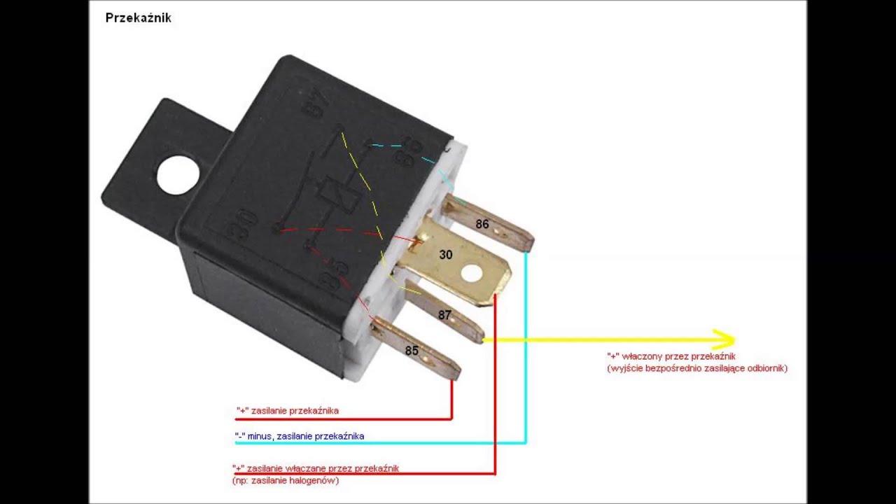 Poważne Klamka elektryczna bagażnika fiat panda przekaznik schemat WZ16