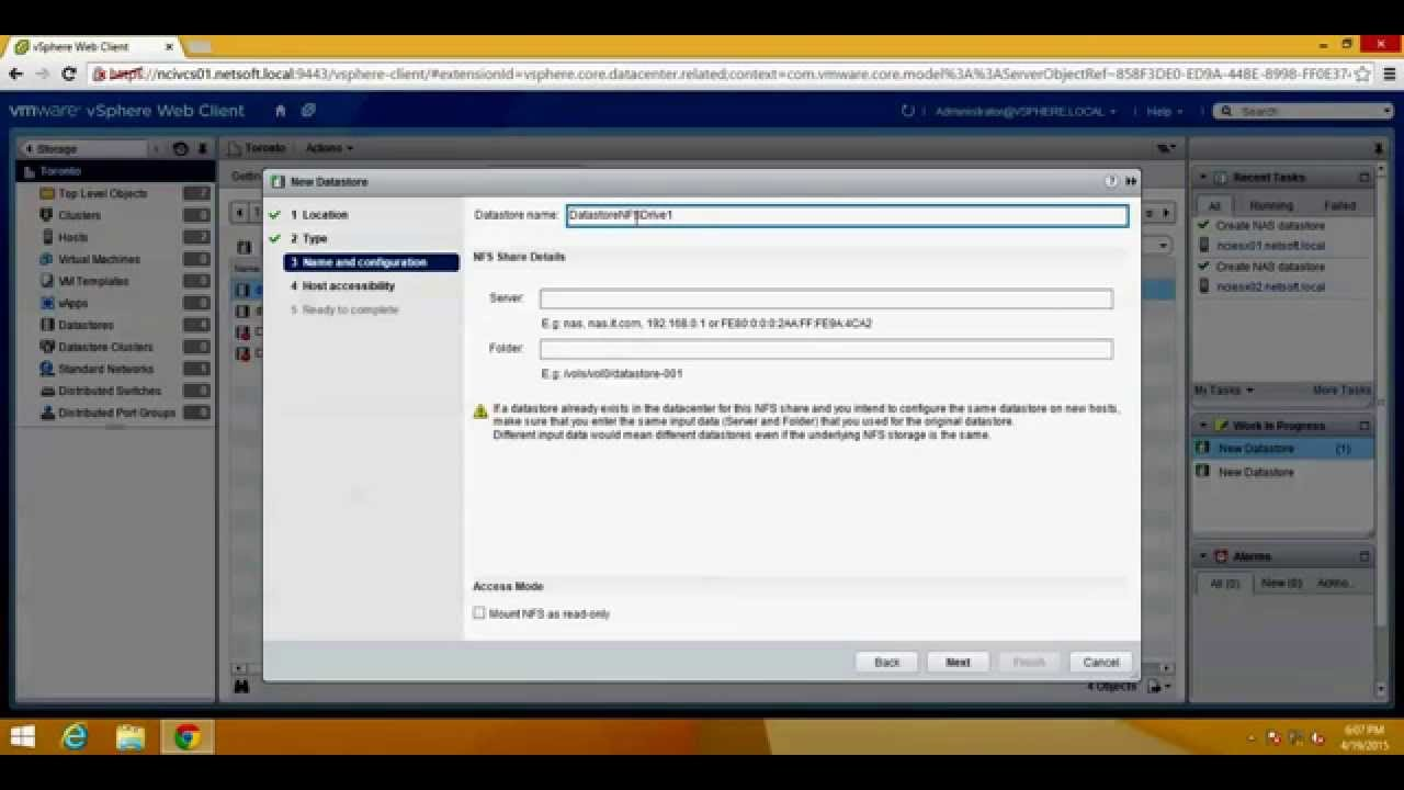 How to Configure NFS Share in CentOS 7 and Mount NFS Datastore in VMware  vSphere ESXi